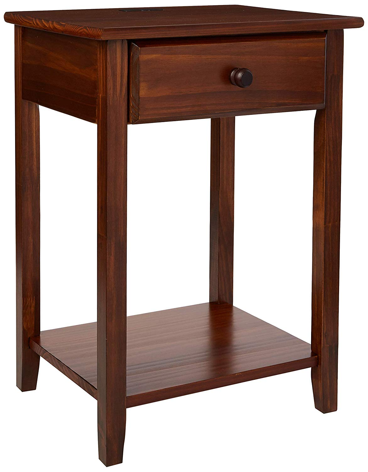 casual home night owl nightstand with usb ports bedroom end tables unique warm brown kitchen dining north shore pedestal table dark leather coffee stanley kids desk conversation