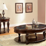 centinel solid wood dark cherry tempered glass inserts end tables categories square oak coffee table acme city ave ethan allen mahogany dresser oriental stacking broyhill with 150x150