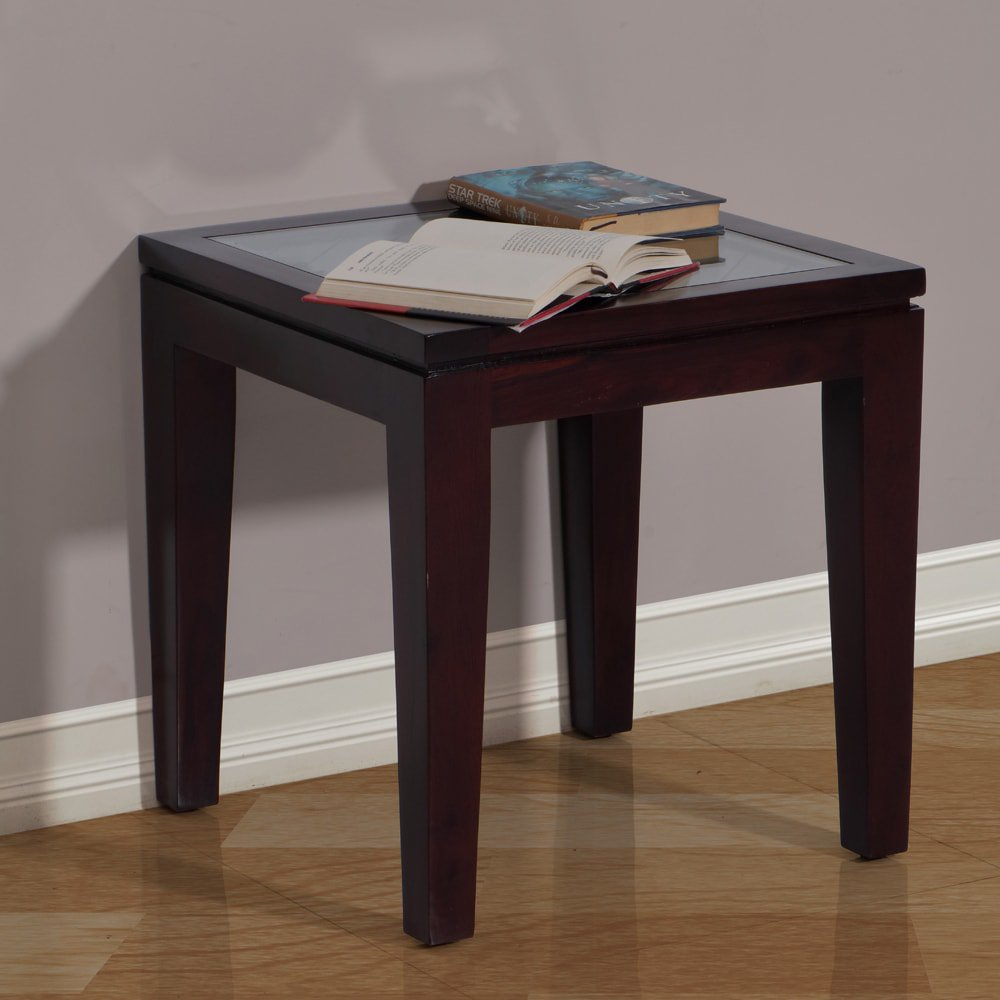 centre and end tables rio solidwood table with glass dark brown min black solid wood homesense garden decor square for pulaski bench kmart kitchen sets what shape coffee goes