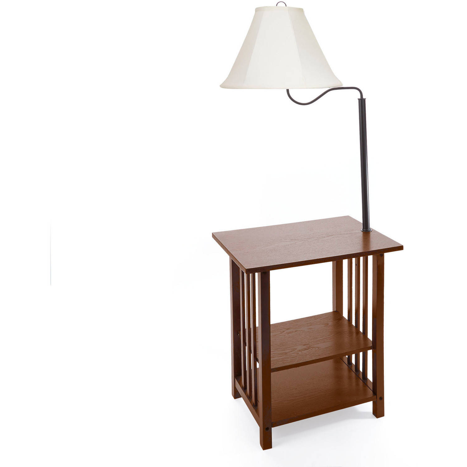 chair side table with lamp design decoration ivory end combinations combo log and benches glass top patio chairs dark wood bar furniture thomasville brown leather couch brass pipe
