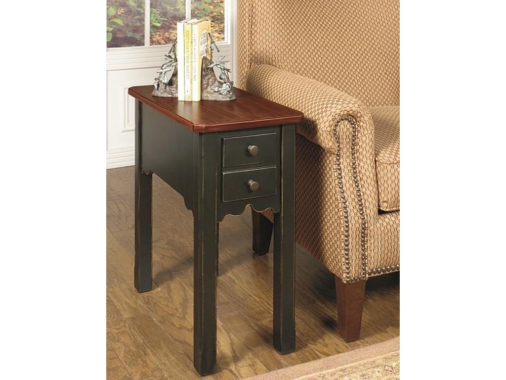 chairside end table null furniture dunk bright products color tables ashley clearance bedroom sets bedside mirrors homesense brighton slate grey glass nest rustic tree trunk