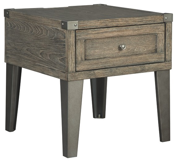 chazney rustic brown rectangular end table tables gray modern industrial square coffee dark wood dresser altra and piece set side white round grey lamp shades black gloss bedside