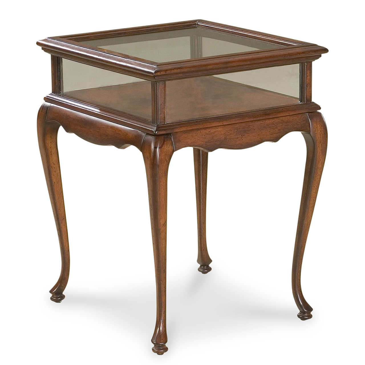 chelmsford glass top curio display table kensington row tables cherry wood end with categories magnussen lybrook coffee what nightstand urban ladder uttermost quillon stanley