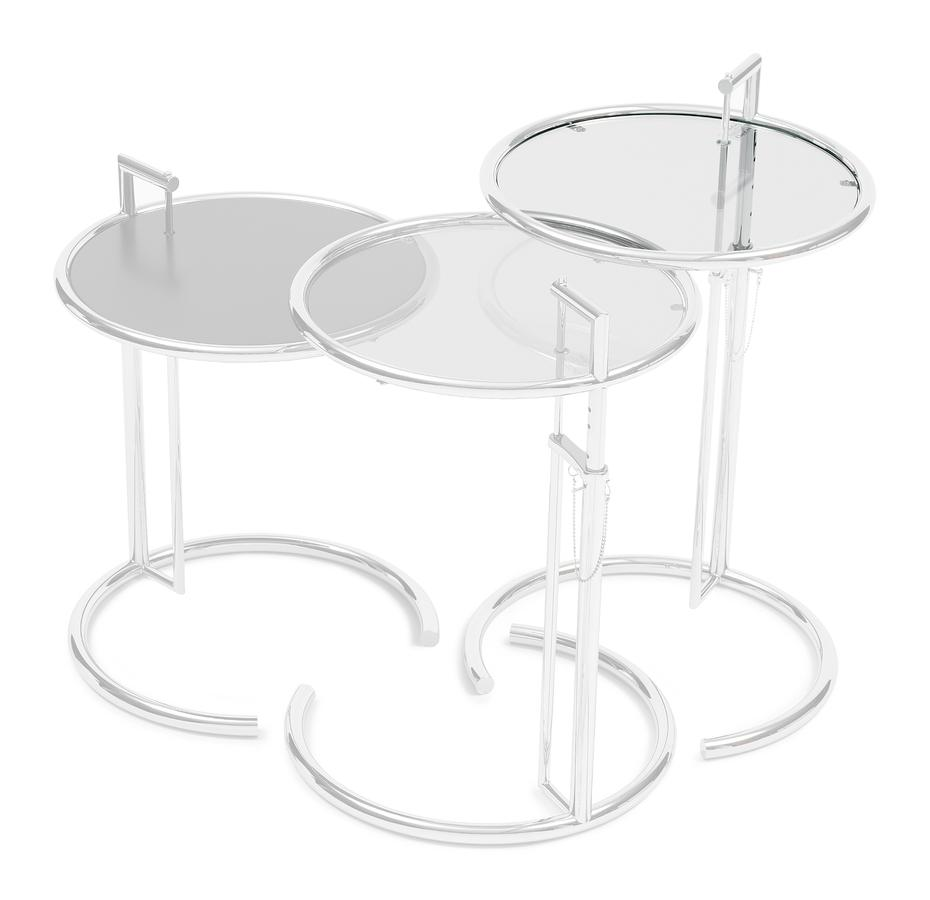 classicon adjustable table replacement glass eileen gray ersatzplatte kristallglas klar zoom for end round outdoor setting whole lazy boy furniture tall colorful lamp coffee with