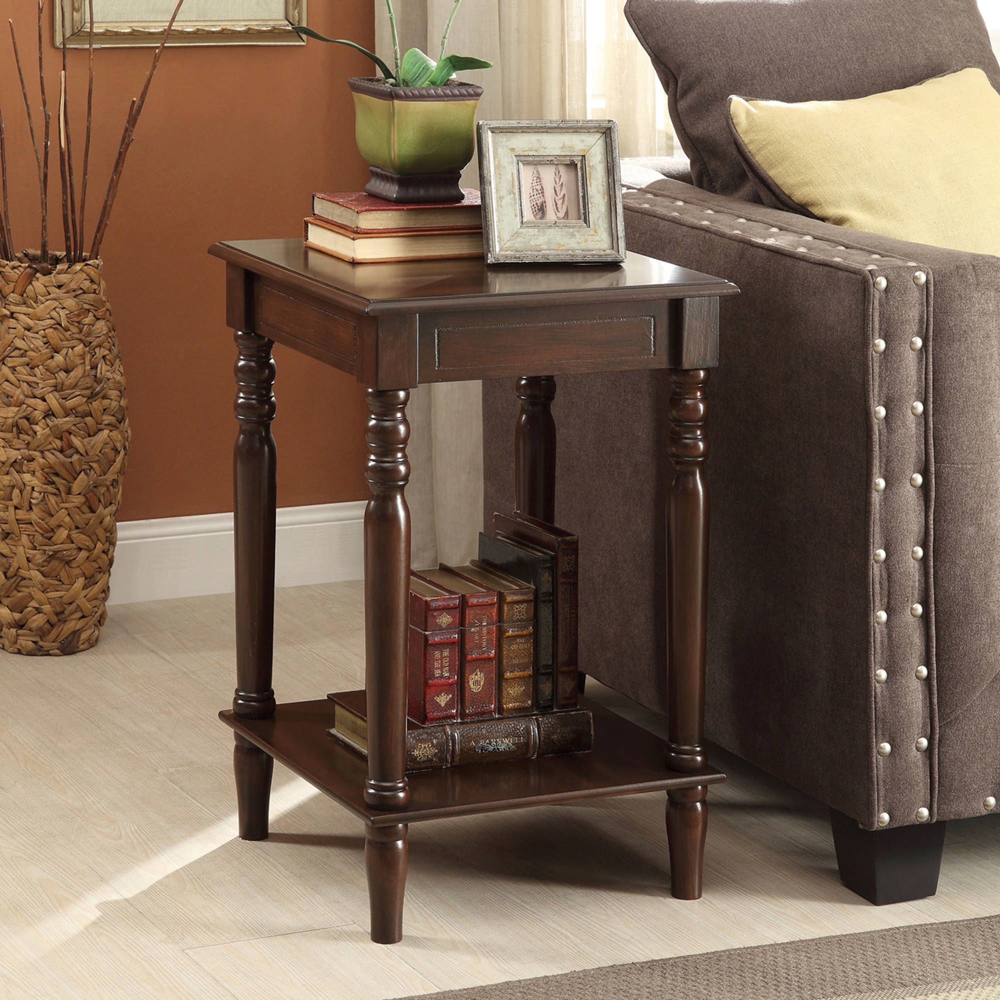 coaster accent table cherry finish end coffee modern contemporary square tables stanley furniture caroline collection wood iron side glass living room metal small patio ashley