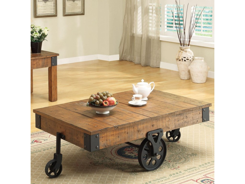 coaster accent tables distressed country wagon coffee table value products color coas cottage style end fire pit and chairs outside pallet couch log furniture plans tall black