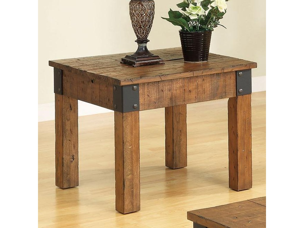 coaster accent tables distressed country wagon end table prime products color coas cottage style drum pvc pipe coffee big creek greenway pool furniture side lazy boy warranty for