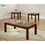 coaster company cherry faux marble occasional table set free looking top end finish shipping today porter side stanley furniture caroline collection standard dining room size 150x150
