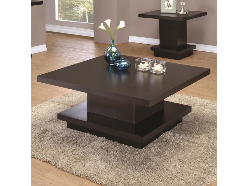 coaster modern pedestal coffee table value city furniture products color contemporary tables and end unfinished dining used garden lounge chairs ashley home bedroom sets stacking