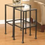 coaster nesting tables piece glass and metal products color end solid wood furniture mumbai sauder soft modern table casual home pet crate ethan allen fabric suppliers grey living 150x150