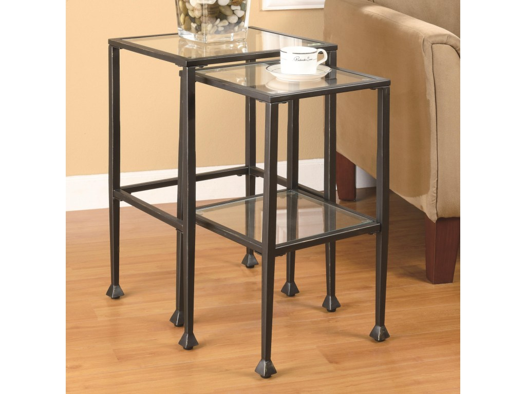 coaster nesting tables piece glass and metal products color end solid wood furniture mumbai sauder soft modern table casual home pet crate ethan allen fabric suppliers grey living