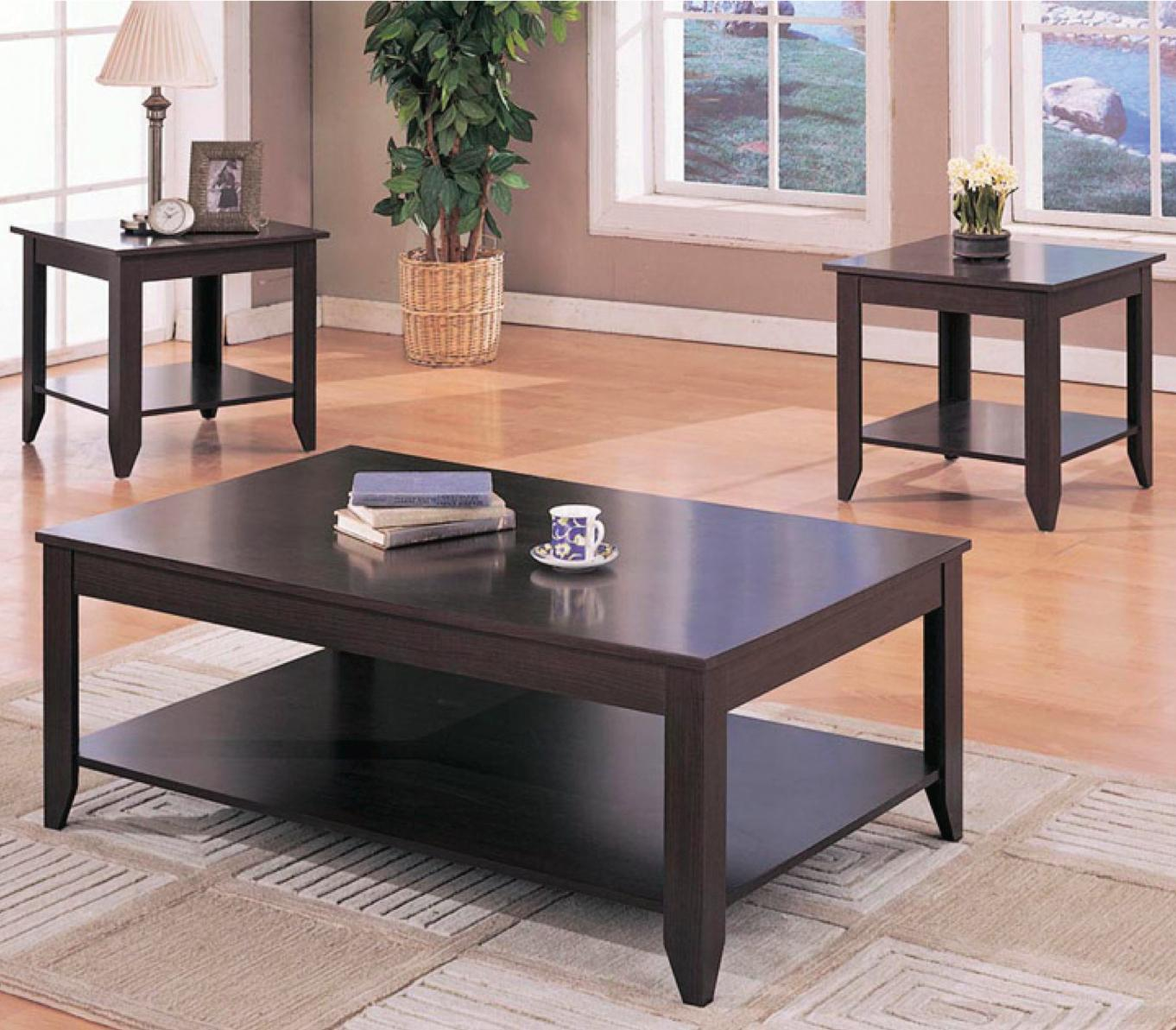 coaster occasional table sets contemporary piece products color coffee tables and end set black brown side used mission style furniture iron pipe frame ashley home bedroom dark
