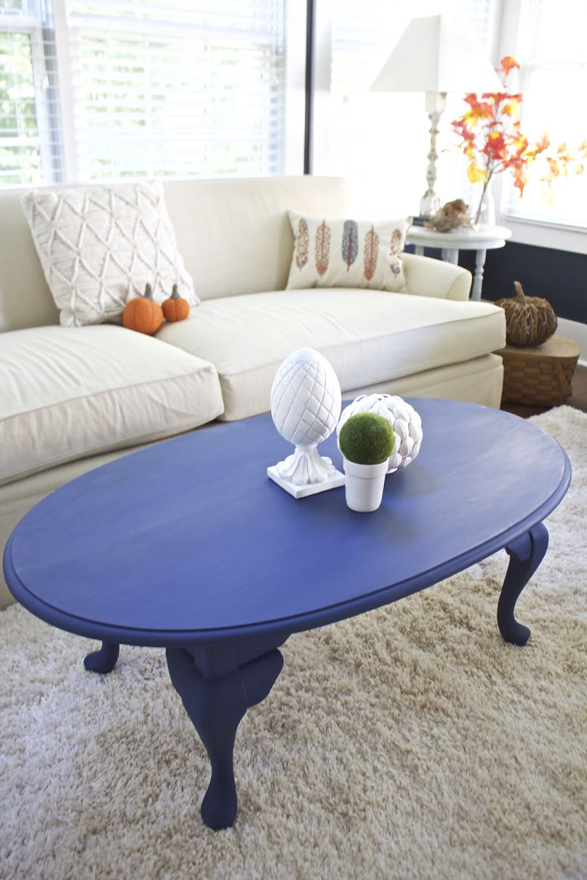 coffee table makeover napoleonic blue chalk paint bees pod img painted end tables luxury dining room industrial pipe console lexington sofa macys concord furniture crate