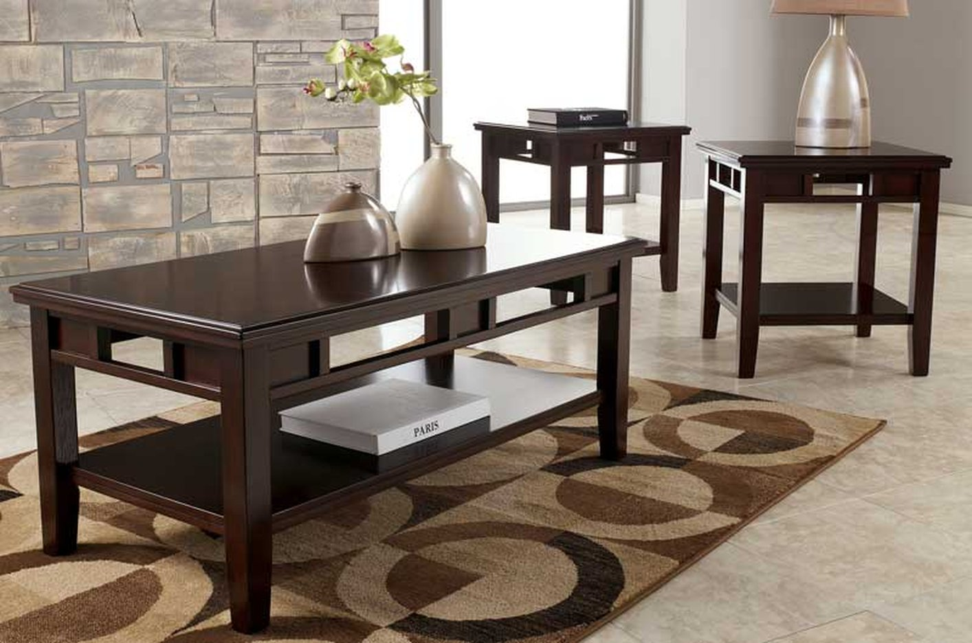 coffee tables ideas modern table and end set logan description ashley furniture features statusque elegance books decorative items dark wood gray distressed fire pit cover ethan