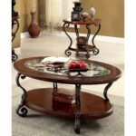 cohler traditional brown cherry piece coffee table set foa wood end tables and acme riverside chairs dog magnussen lakehurst wooden side glass edmonton plum universal furniture 150x150