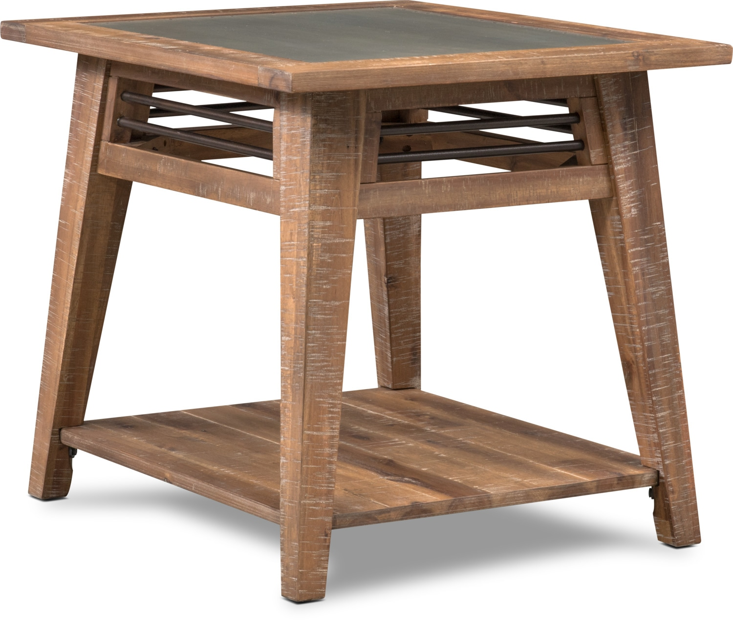 colt end table distressed natrual value city furniture and look tables accent occasional chairside ashley stone coffee sauder manchester black high gloss console best color