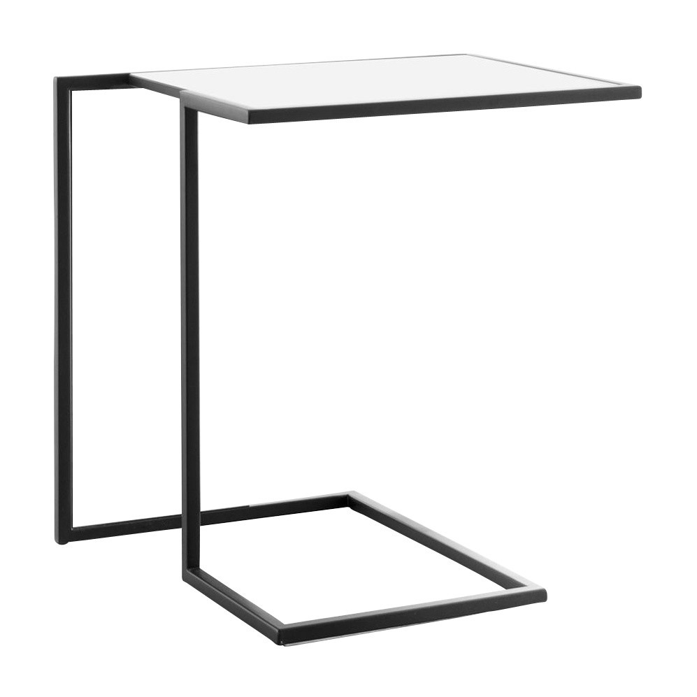 conmoto riva side table ambientedirect beistelltisch end painted black weis gestell schwarz laminat mid century modern dining round glass set polar bear console inch depth ethan