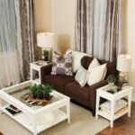 contemporary living room decor ideas brown couch with the white what color end tables coffee table and matching even curtains are perfect match outdoor lunch large decorative dog 150x150