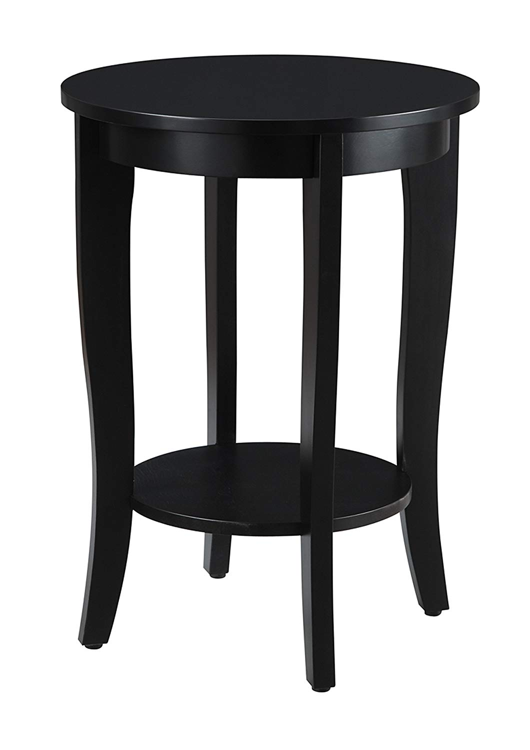 convenience concepts american heritage round table wqxmzl black end home kitchen distressed wood nesting tables small bedside ideas homesense cushions industrial pipe desk legs