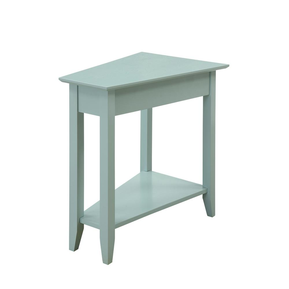 convenience concepts american heritage sea foam wedge end table tables espresso finish the small round pedestal accent metal glass coffee sets gold corner ashley south shore