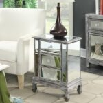 convenience concepts gold coast vineyard weathered gray drawer mirrored end table round mirror sauder furniture clearance stone and glass tables pipe making wood inch nightstand 150x150