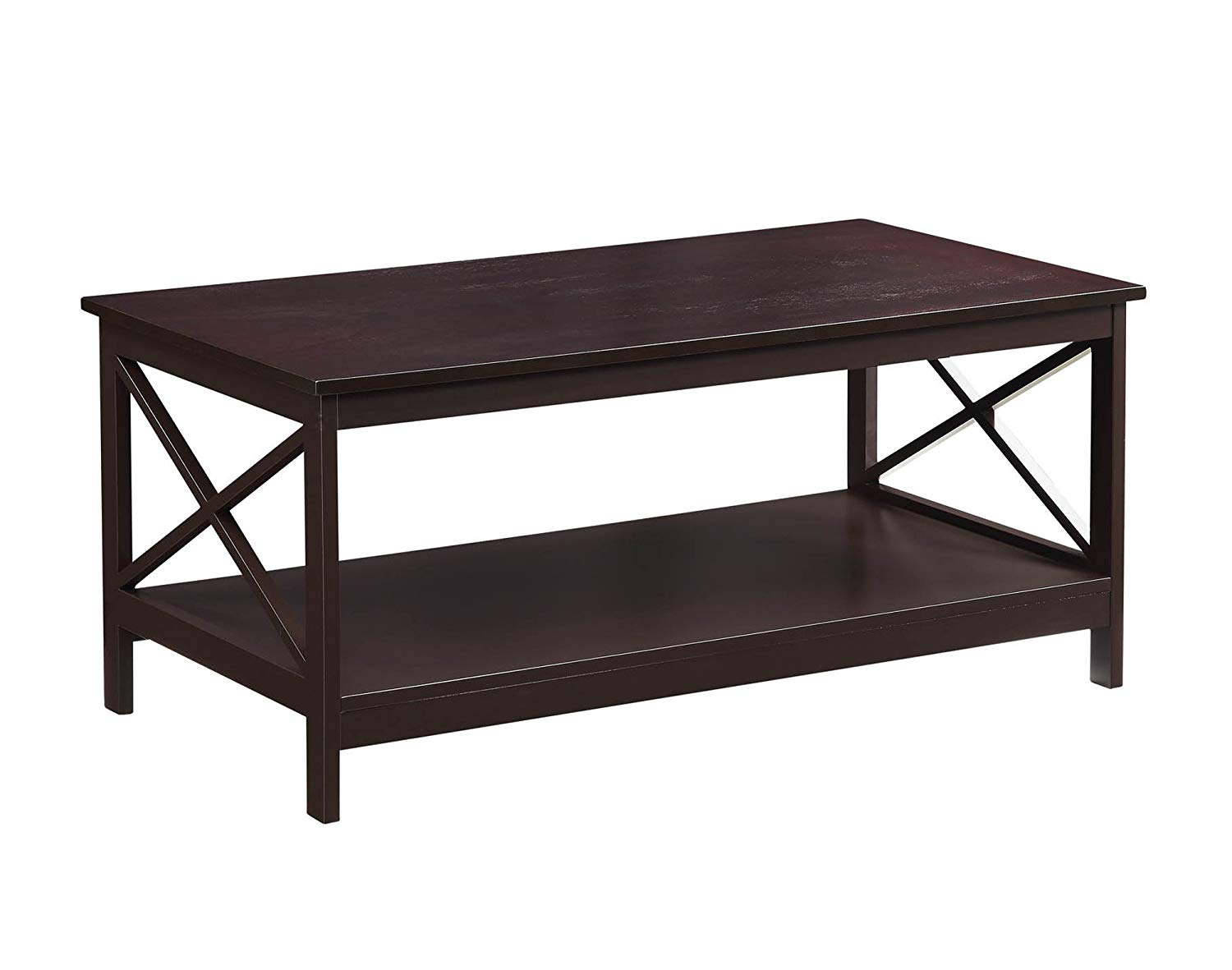 convenience concepts oxford coffee table espresso end kitchen dining light height jysk ashley furniture for less small contemporary log base frosted glass side ethan allen