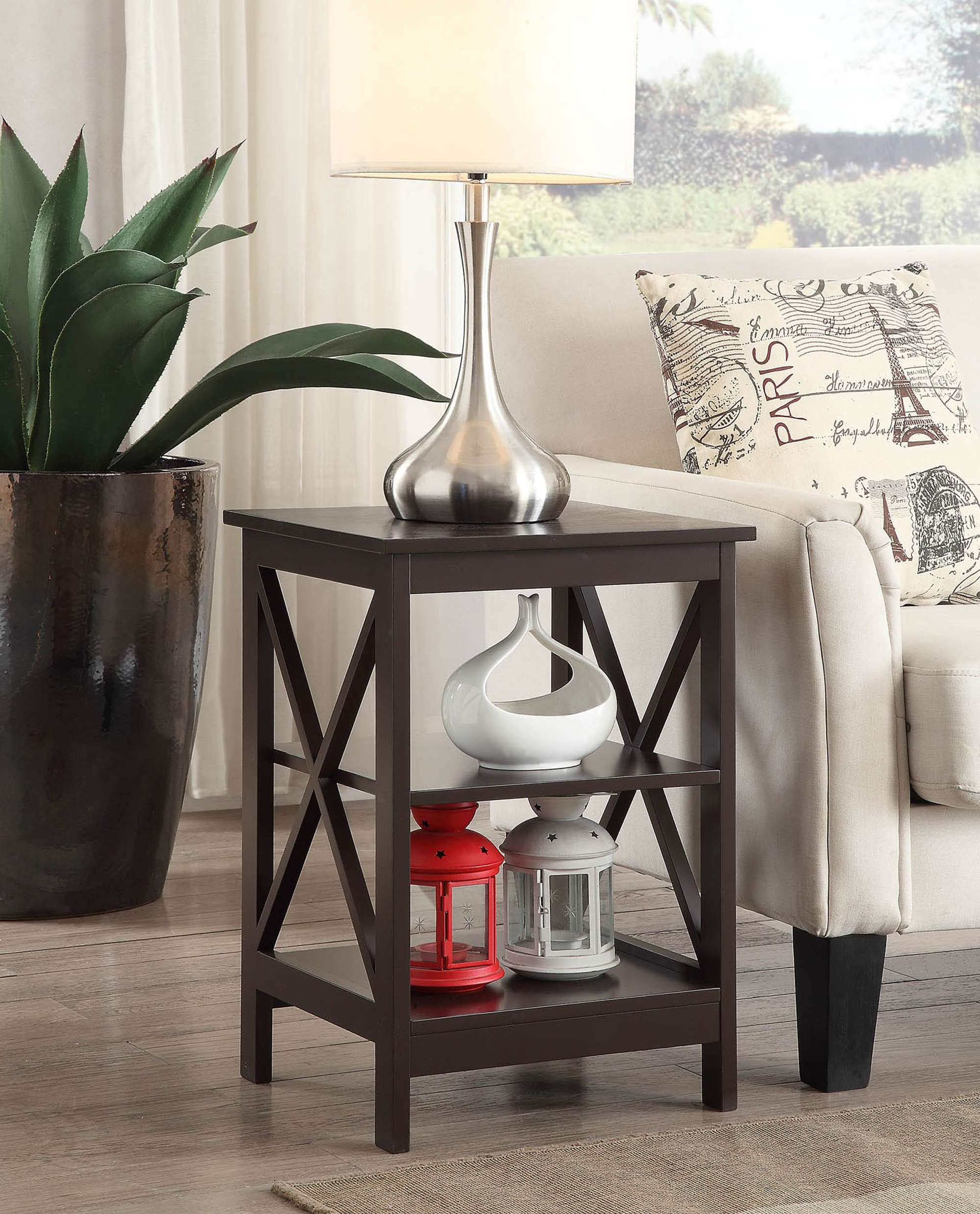 convenience concepts oxford end table espresso reviews goedekers small round outside lazy boy chairs edmonton couch height cross island sofa royal oak furniture shabby chic