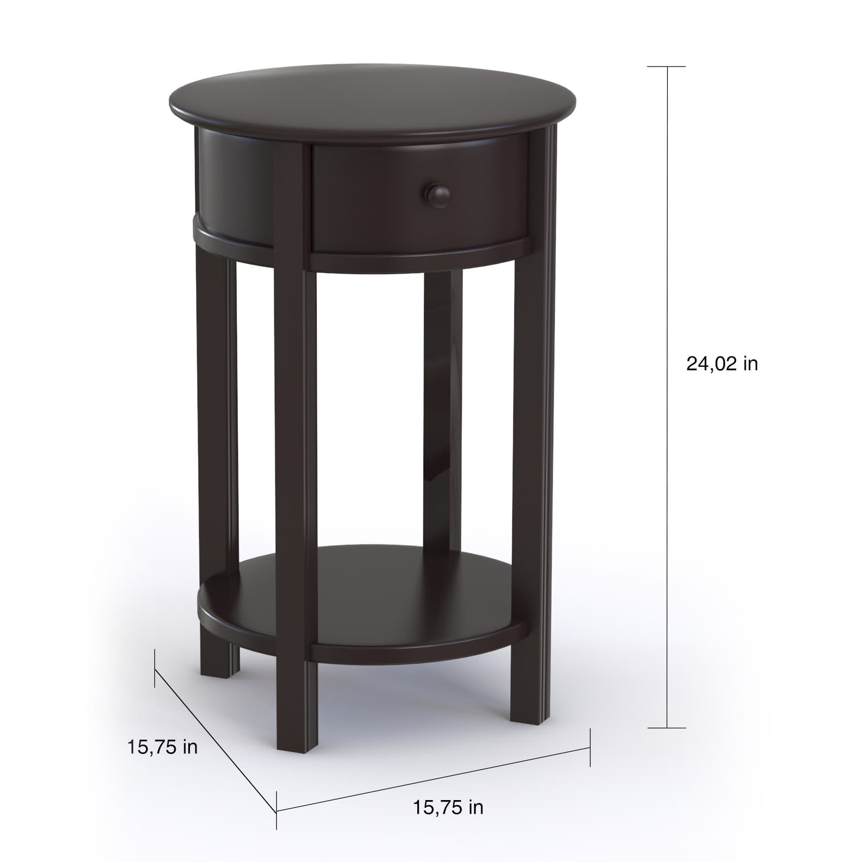 copper grove rearguard round espresso end table free shipping ameriwood home tipton today replacement top for outdoor patio umbrella italian office furniture decorating ideas