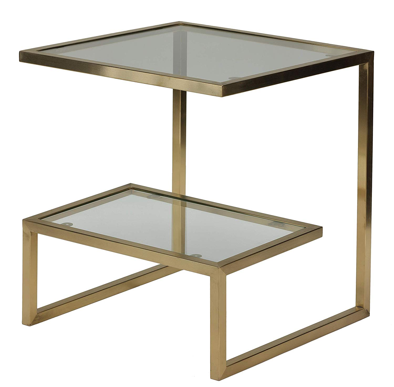 cortesi home luician contemporary end table brushed tables gold kitchen replacement cushions for outdoor furniture homesense sofa covers classic style coffee antique solid oak