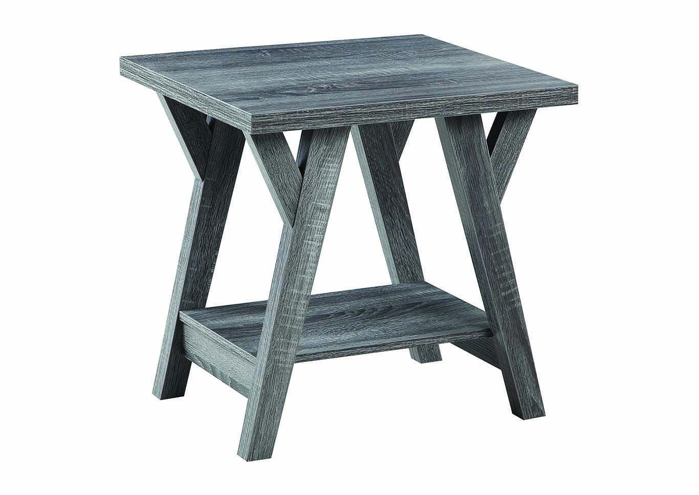 country house furniture distressed grey end table tables coaster marble top bedside kmart for you jos and glass cushions brown leather lounge thomasville hotel home sense ottawa