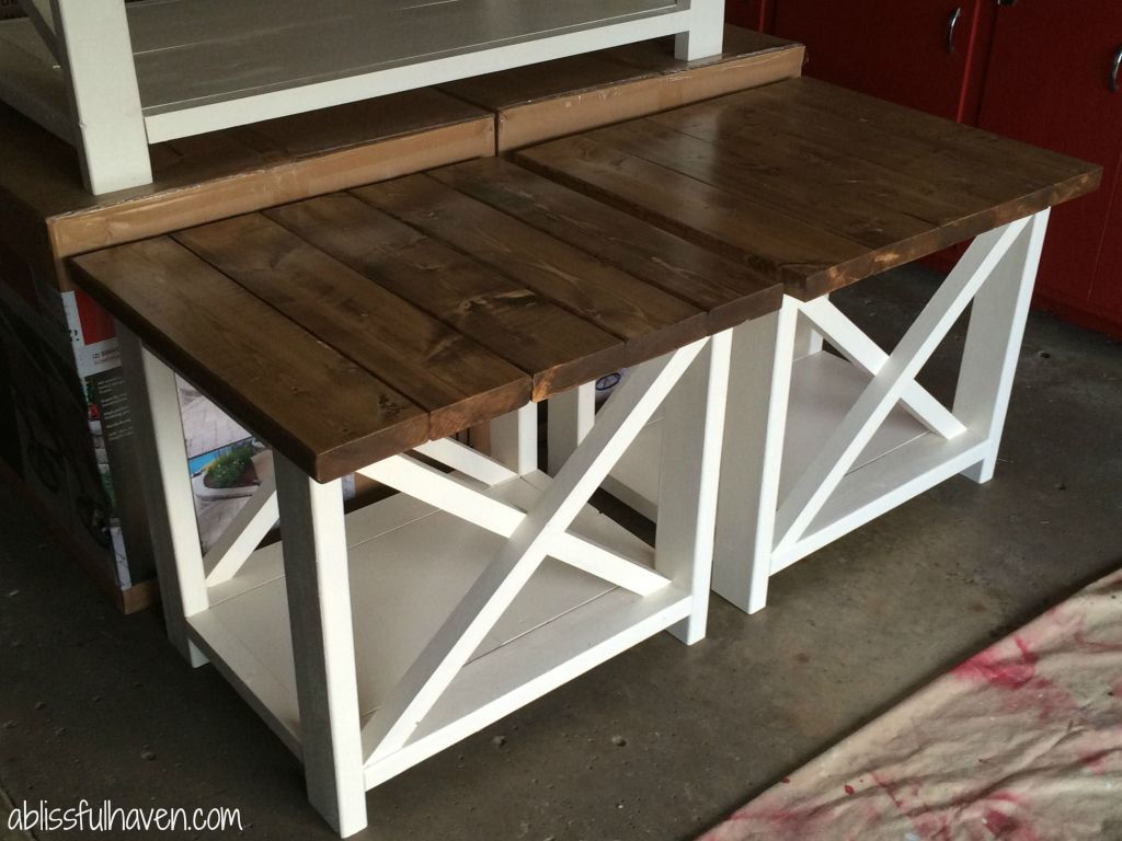 country style coffee tables and end priestkai diy farmhouse projects glass top outdoor table what color rug matches brown couch rustic oval white console with doors small thin