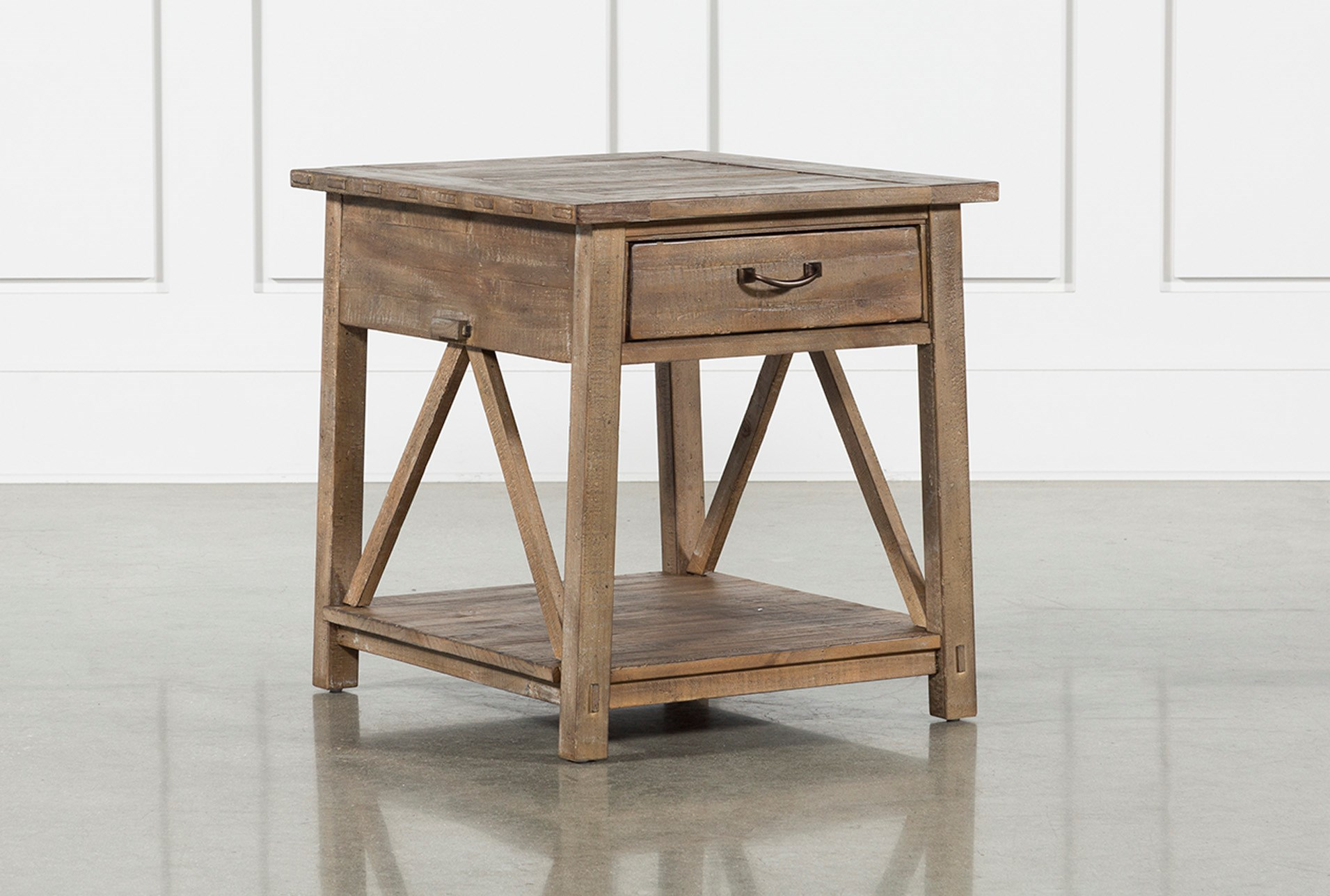 craftsman storage end table living spaces brown wood tables furniture qty has been successfully your cart nest kmart wolfe creek amphitheater small with wheels pipe stand desk