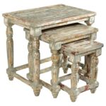 crestview collection accent furniture bengal manor mango wood products color grey distressed end tables set nested oak quality table demi lune galvanised pipe pallet furn jos 150x150