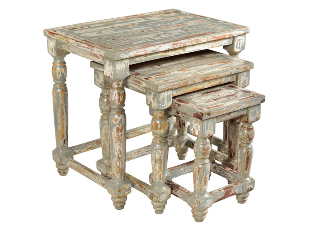 crestview collection accent furniture bengal manor mango wood products color grey distressed end tables set nested oak quality table demi lune galvanised pipe pallet furn jos