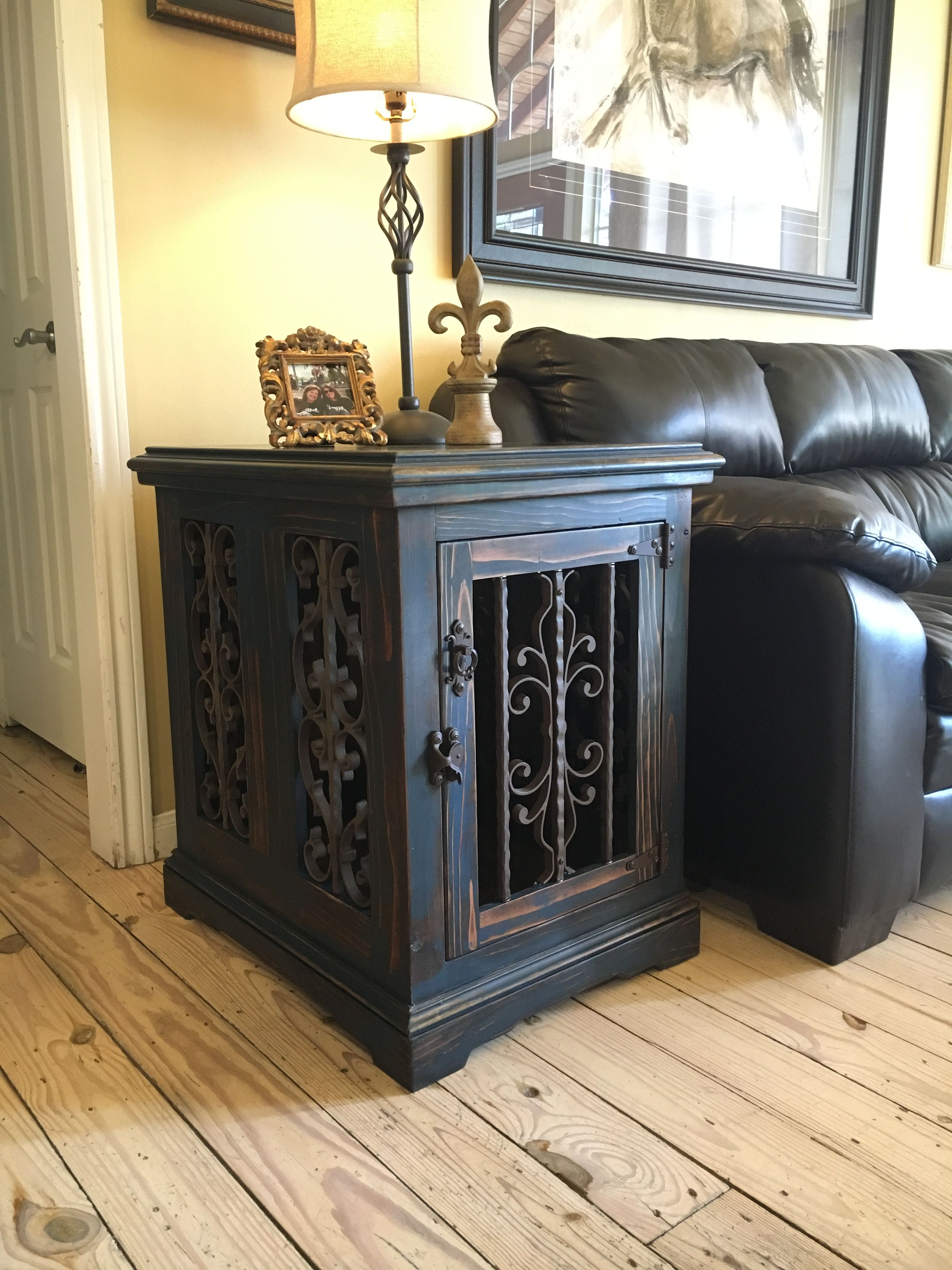 custom dog kennel crate end table solid wood crates that look like tables inthedoghousekenneldesigns sagamore dining set small with drawer console back sauder bedroom high bedside
