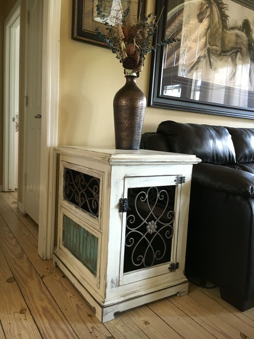 custom dog kennel end table night stand wood and iron finished crates that look like tables ascp with clear wax inthedoghousekenneldesigns leather sofa black white expensive glass