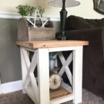 custom farmhouse end table rustic side living room etsy pxex tables shabby chic coffee and cabin style furniture corey dog cage designer toronto wood with leather top cherry 150x150