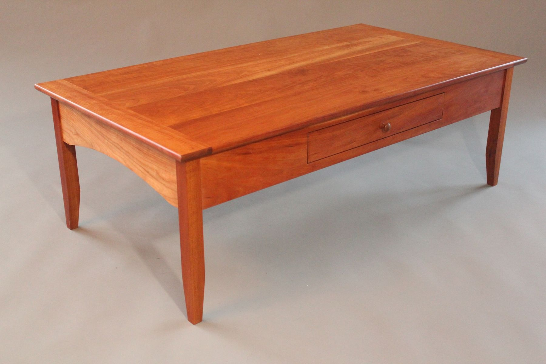 custom made cherry coffee table wood and end tables large ashley north shore bedroom collection average dining room size frosted glass bedside steel box frame round protector tea