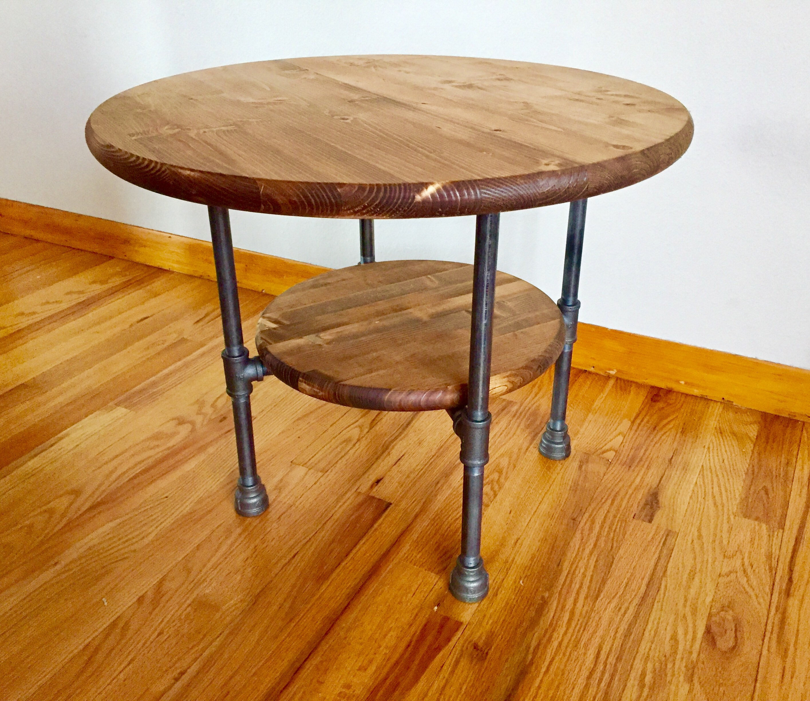 custom order for wattersone black pipe end table diy parts kits fullxfull complete base tall toscana unfinished kitchen stools value city magnolia home collection horseshoe tables