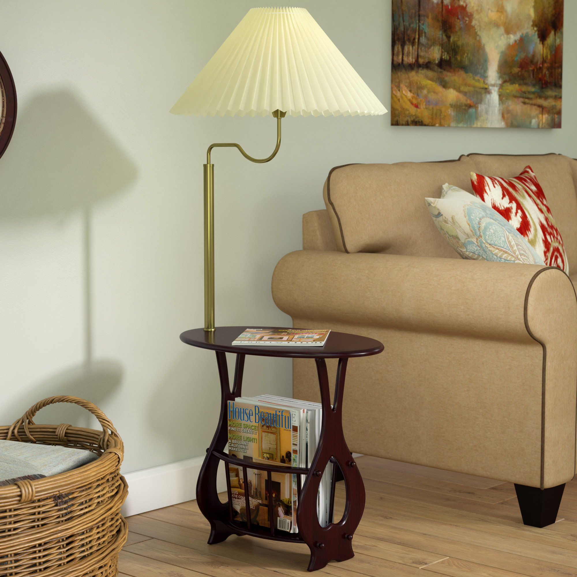 darby home portersville floor lamp end table magazine rack combination combinations reviews dark brown leather couch order laura ashley catalogue thomasville furniture chairs