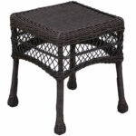 dark brown wicker end table home white gloss lamp pallet wood purse hook for inch nightstand collapsible pet kennel living room tables and lamps stump top bunk powell furniture 150x150