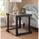 dark taupe black finish end table caravana furniture tables diy pallet glass casa mollino gray outdoor side ashley home promo code ese small white plastic medium cast aluminum big 150x150