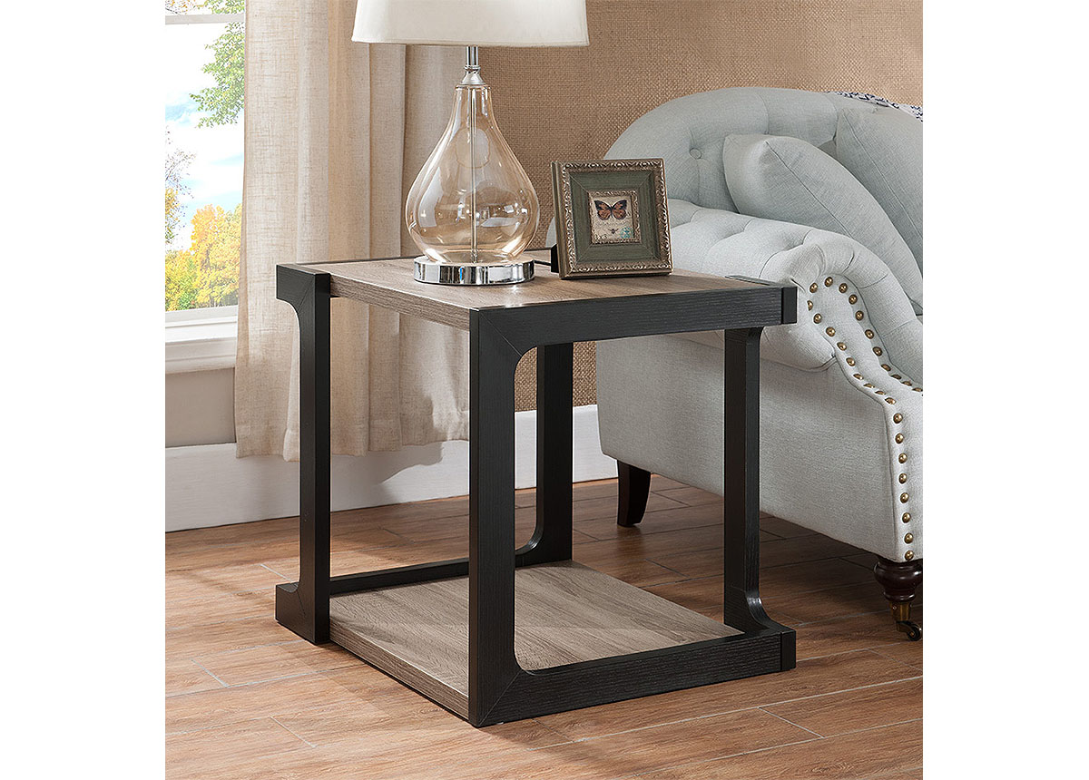 dark taupe black finish end table caravana furniture tables diy pallet glass casa mollino gray outdoor side ashley home promo code ese small white plastic medium cast aluminum big