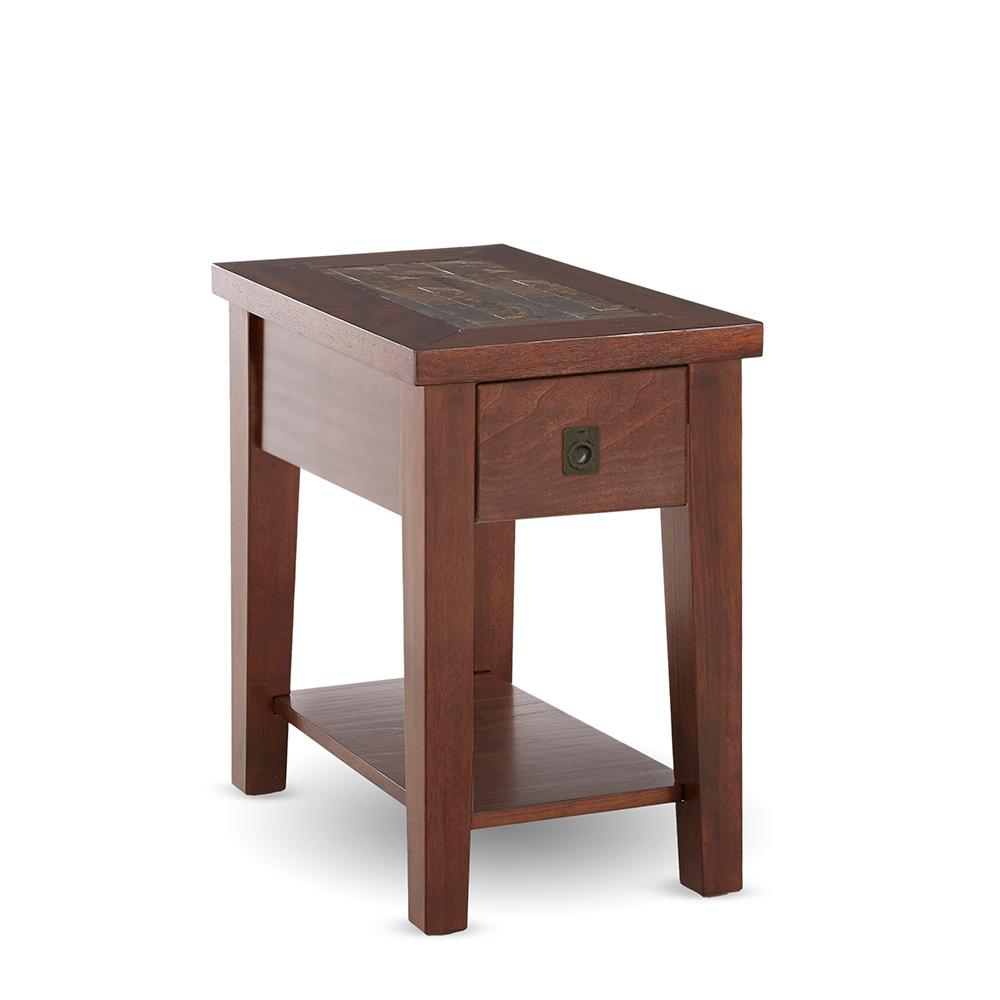 davenport brown cherry chairside end table the tables royal furniture main street rustic plank coffee small lamp with drawer quality short lamps how long calendar best dog cage