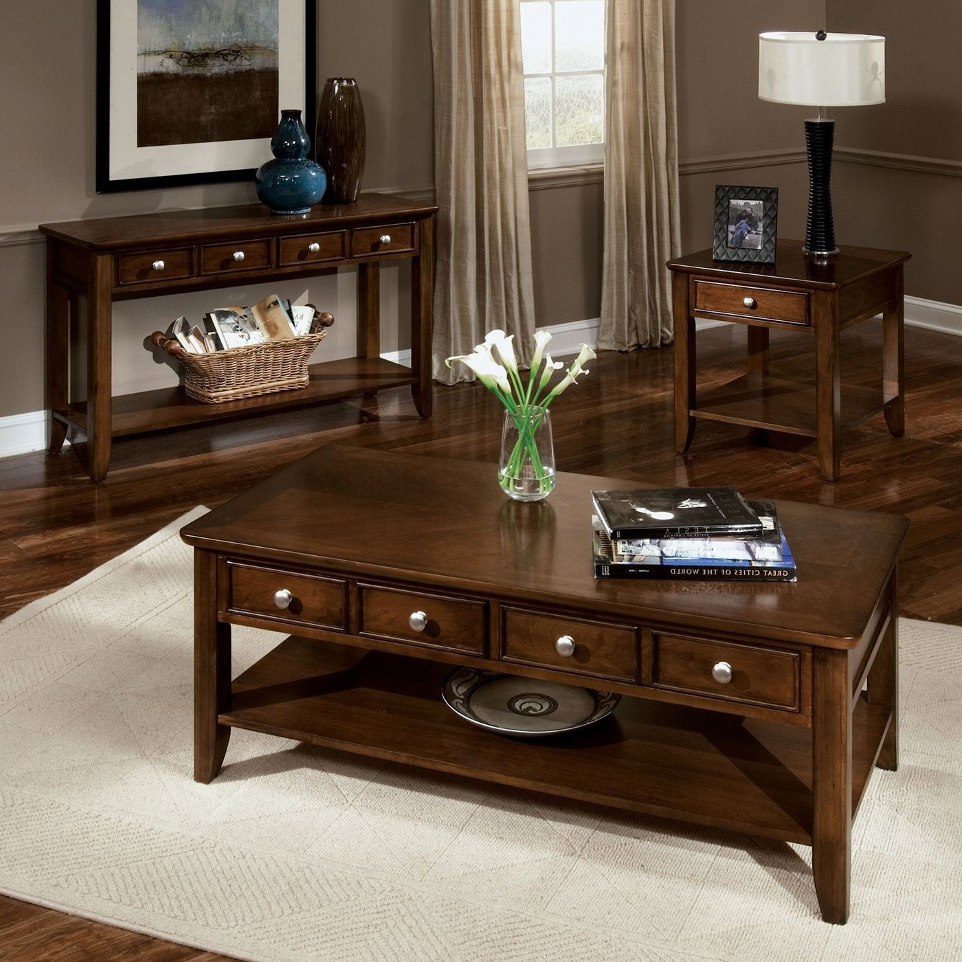 decorating end tables without lamps living room design with distressed white dining table paint color for brown leather furniture small square accent modern melbourne long coffee