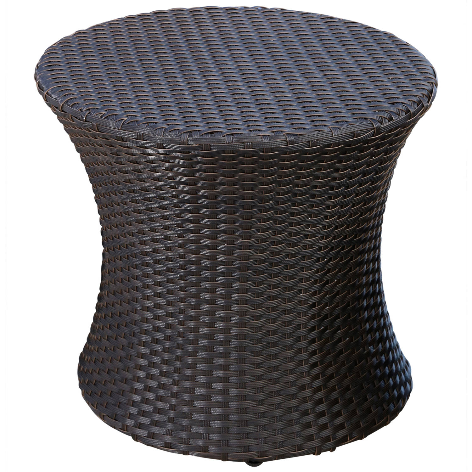 devon and claire laguna outdoor espresso brown wicker end table kmart furniture tables inch patio dimmable floor lamp coffee assembly instructions collapsible pet kennel pulaski