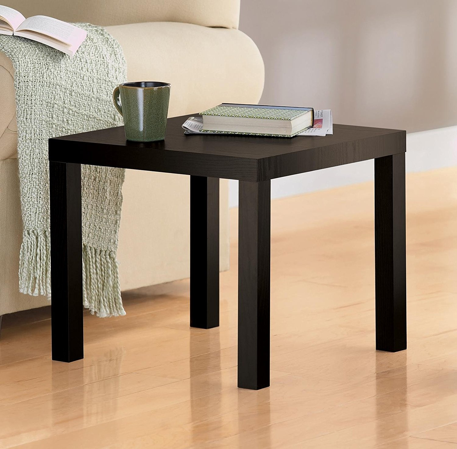 dhp parsons modern end table only endtable black wood grain wooden dog kennel kits ethan allen furniture houston offers chennai magnussen ashby nightstand unfinished entry inch
