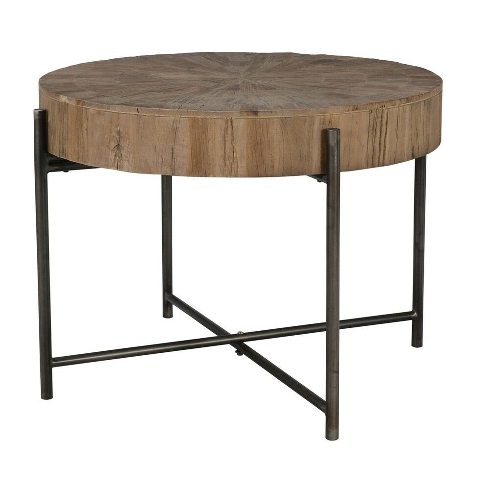 diameter sera coffee table solid reclaimed elm black iron base end details about boston king kidney mix and match tables square glass kitchen railroad cart acrylic bedside altra