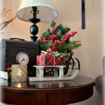 dining delight christmas decor for end tables lodge table can you believe that month from today will eve time whizzing and been decorating frenzy around here fun stanley furniture 150x150