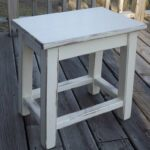 distressed white wood side table small end handmade tables plexiglass top rustic lamps ashley furniture naomi oval iron coffee light brown couch decor dark oak magnolia market 150x150